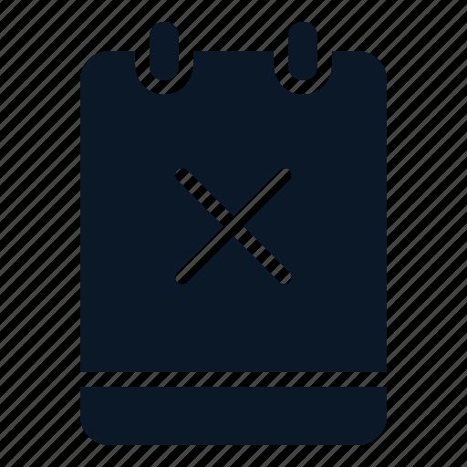 close, cross, memo, note icon