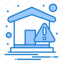 home, notice, notification, warning icon