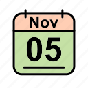 calendar, date, nov, november, schedule icon, su icon