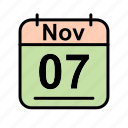 calendar, date, nov, november, schedule icon, tu icon