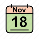 calendar, date, nov, november, sa, schedule icon icon