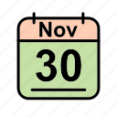 calendar, date, nov, november, schedule icon, th icon
