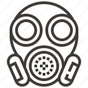 biological hazard, gas mask, industry, miscellaneous, respirator, security, tools and utensils icon