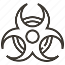biohazard, danger, hazard, industry, signaling, signs, toxic icon