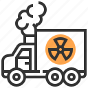 industry, nuclear, radioactive, transport, transportation, truck icon