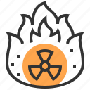 alert, energy, industry, nuclear, power, radioactive, signs icon