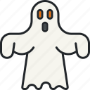 ghost, halloween, holiday, paranormal, scary, spectre, spooky icon