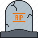 cemetery, grave, halloween, holiday, scary, spooky, tombstone icon