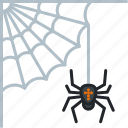 cobweb, halloween, holiday, scary, spider, spooky, web icon