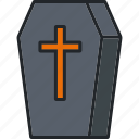 coffin, death, funeral, halloween, holiday, scary, spooky icon