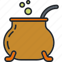cauldron, halloween, holiday, potion, scary, spooky, witchcraft icon