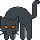 cat, halloween, holiday, hunch, hunching, scary, spooky icon