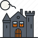 spooky, face, haunted house, scary, halloween, holiday, creepy icon