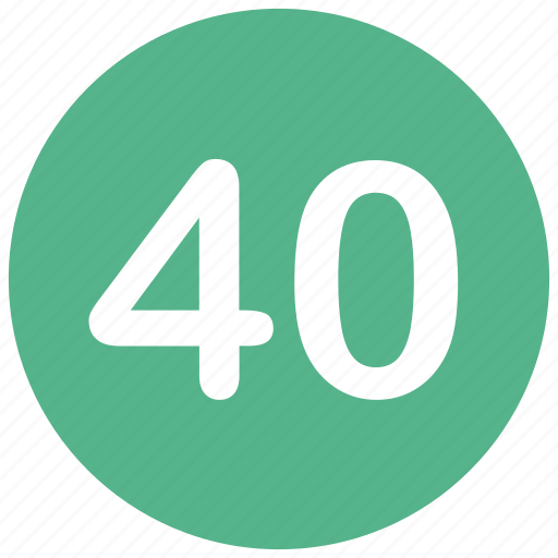 count, forty, math, mathematics, number icon