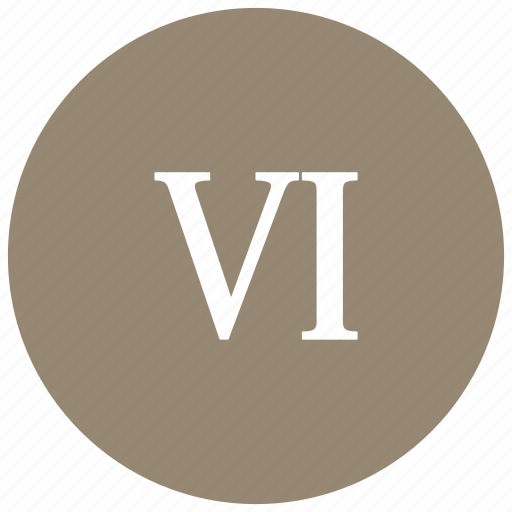 count, greek, math, mathematics, number, six icon