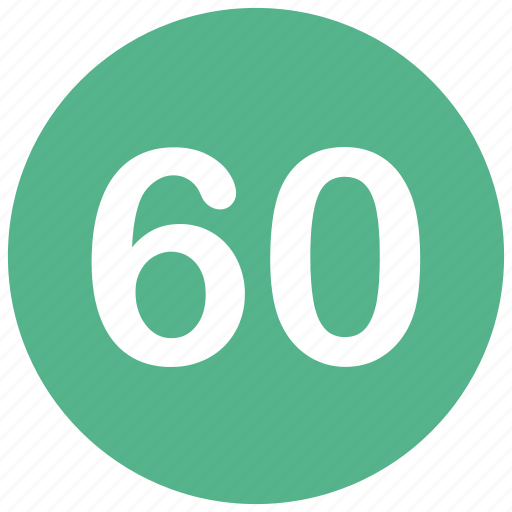 count, math, mathematics, number, sixty icon