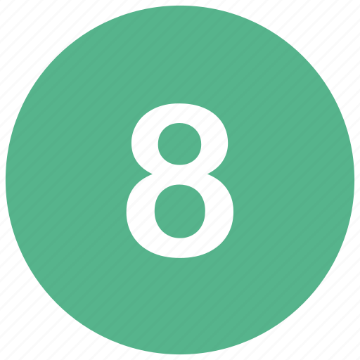 count, eight, math, mathematics, number icon