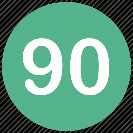 count, math, mathematics, ninty, number icon