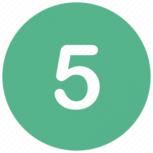 count, five, math, mathematics, number icon