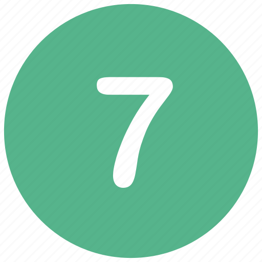 count, math, mathematics, number, seven icon