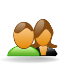 female, forum, friends, group, male, people, users icon