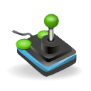 computer game, joystick icon