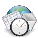 calendar, clock, earth, email, internet, world icon
