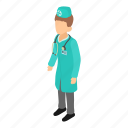 doctor, health, healthcare, hospital, isometric, medical, object