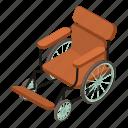 chair, hospital, isometric, medical, object, wheel, wheelchair