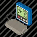 blood, isometric, measure, medical, object, pressure, tonometer