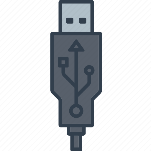 cable, components, connector, electronics, plug, technology, usb icon