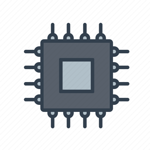 chip, components, computer, cpu, electronics, processor, technology icon