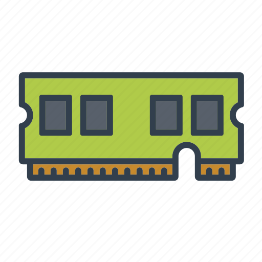 components, computer, electronics, memory card, module, ram, technology icon
