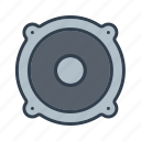 audio, components, electronics, music, sound, speaker, technology icon