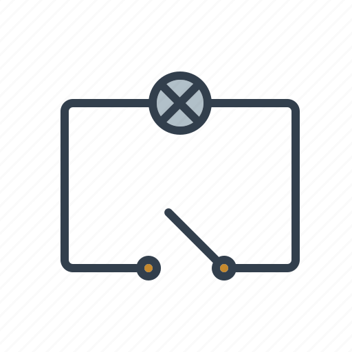 circuit, components, electronics, scheme, switch, technology icon