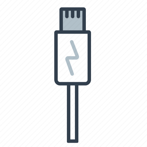 cable, components, connector, electronics, lightning, plug, technology icon