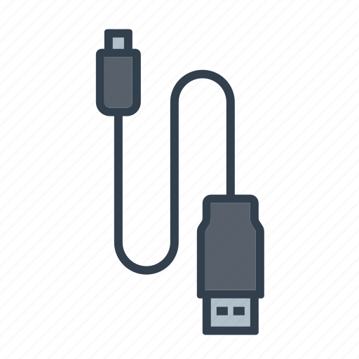 cable, components, connector, electronics, mini usb, technology icon