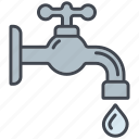 drop, ecology, environment, faucet, nature, tap, water icon