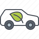 car, ecology, environment, leaf, nature, transportation, vehicle icon