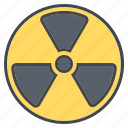 danger, ecology, environment, nature, nuclear power, warning sign icon