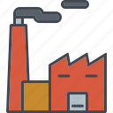 ecology, environment, factory, industry, nature, pollution, smoke icon