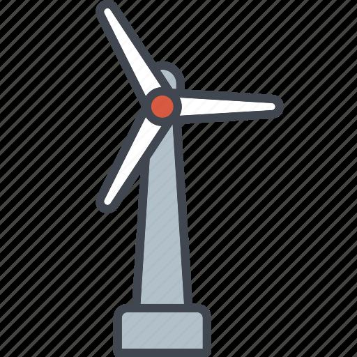 ecology, environment, nature, power generation, renewable energy, wind turbine icon