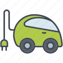 ecology, electric car, environment, nature, plug, sustainability, vehicle icon