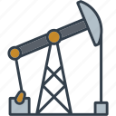 exploitation, fossil fuel, industrial, industry, oil well, pump jack, technology icon