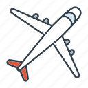 airplane, holidays, plane, summer, transportation, travel, vacation icon