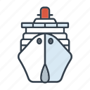 cruise, cruise ship, holidays, summer, transportation, travel, vacation icon
