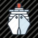 cruise, cruise ship, holidays, summer, transportation, travel, vacation icon