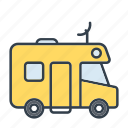 camper van, holidays, motorhome, recreational vehicle, summer, travel, vacation icon