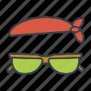 summer, sunglasses, travel, accessories, vacation, bandana, holidays