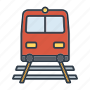 holidays, railway, summer, train, transportation, travel, vacation icon